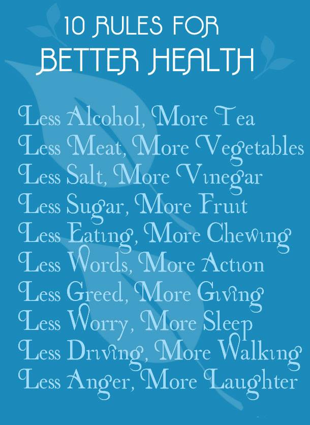 Better health through small changes