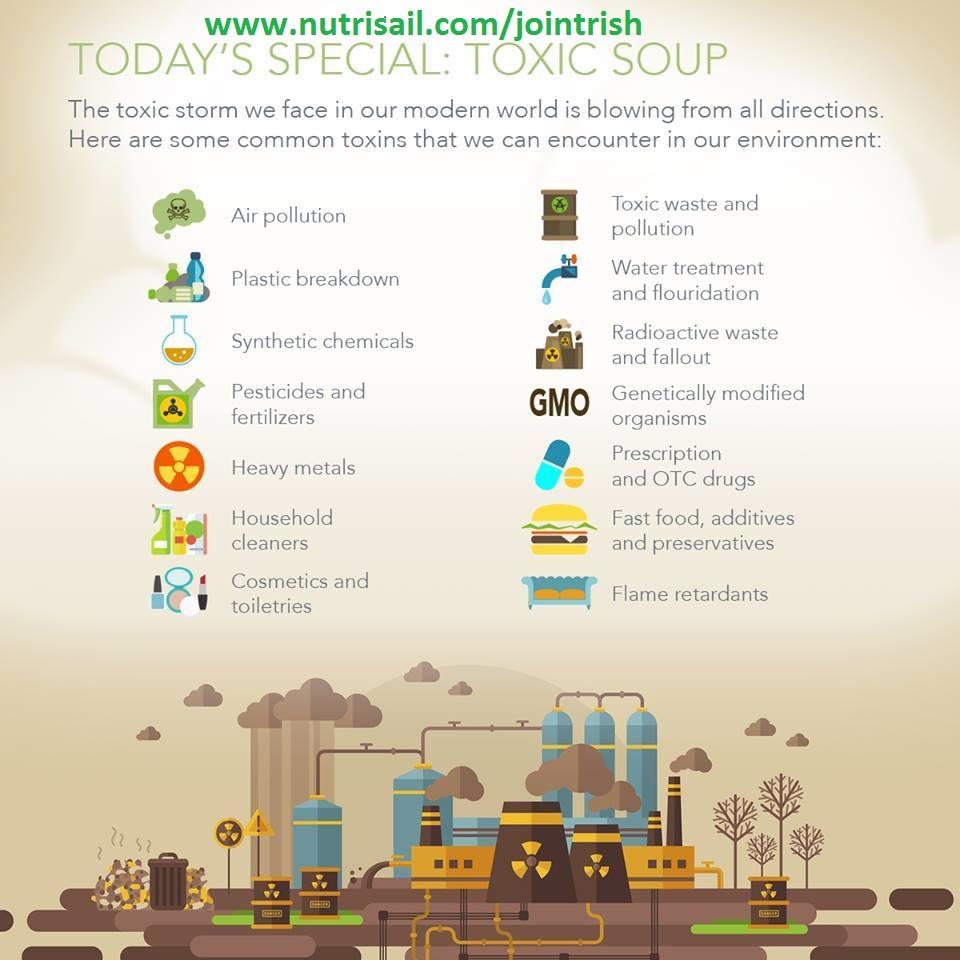 Nutrisail B-Safe Flushes the toxins,