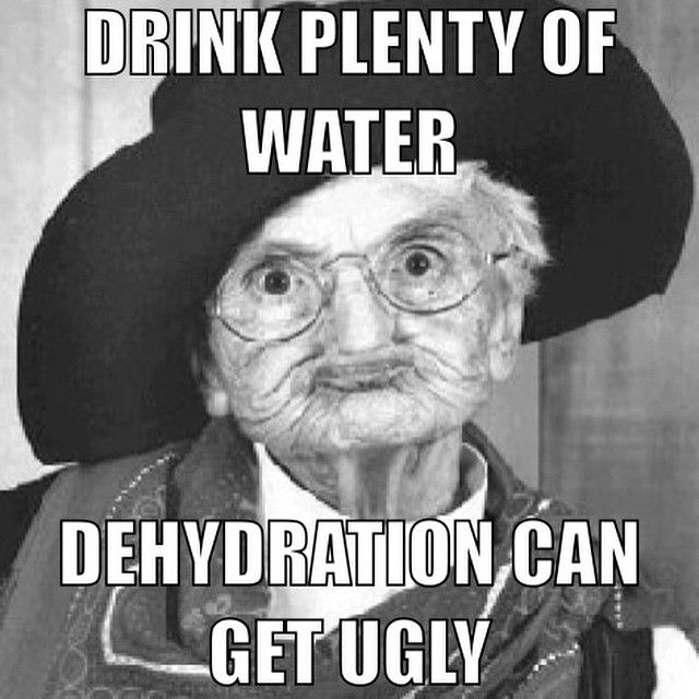 Drink water, look younger