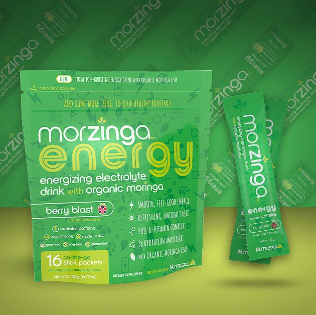 Morzinga Energy Drink Mix. Healthy, Great tasting. Gives you lots of energy and curbs your appetite